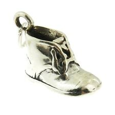 925 Sterling Silver Baby Shoe Charm Made in USA