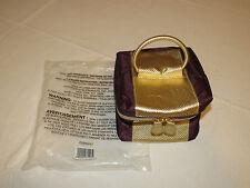 Avon Mark Womens Ladies F3250741 toiletry make up travel bag eggplant gold New;