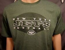 NEW York Jets Screen Print Graphic Team Name Logo S/S Green T Shirt XL NWOT