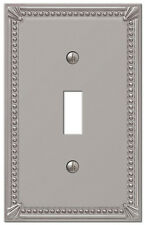 imperial bead brushed nickel 1 single toggle switchplate wallplate by amerelle