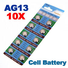 10 x AG13 LR44 SR44 L1154 357 A76 Qualità Alcalino Pulsante/MONETA cellule Batterie