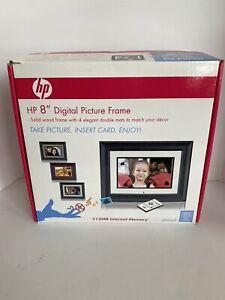 """HP 8"""" Digital Picture Frame DF820A4 512MB Solid Wood Frame & 4 Elegant mats"""