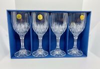 Cristal d'Arques Bretagne Lead Crystal Wine Glasses Set of 4 with Box 9 Oz