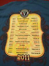 Men's Large 2011 Willie Nelson Country Throwdown Tour VIP T-Shirt Near Mint Rare