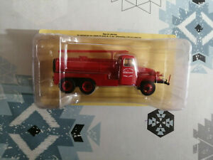 Miniature Camion Citerne D'incendie CCI GMC Pompiers Marcigny Hachette au 1/43
