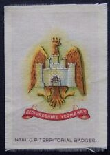 BEDFORDSHIRE YEOMANRY Original Silk Army Badge issued 1913 100+ Years Old