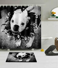 Lovely Dog Waterproof Bathroom Polyester Shower Curtain Liner Water Resistant