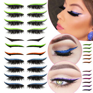 Winged Sequin Eyeliner Magnetic Reusable Curler Eyelashes Fake Eye Lash Stickers