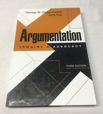 Argumentation Inquiry and Advocacy:  Third Edition