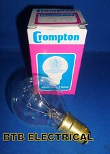 2 X 60 Watt Clear Golf Ball Light Bulbs SBC B15. Crompton