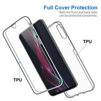 For Samsung Galaxy Note 10 Plus 9 360° Full Ultra-thin Clear Soft TPU Case Cover