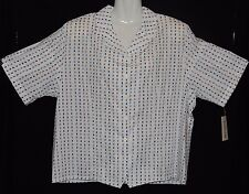"BNWT - ""Imagemakers"" - Plus Sizes 22 - White Business Shirt with collar-Squares"