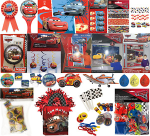 Disney Pixar Cars 2/3 Kids Birthday Party Decorations Tableware Balloons Banner