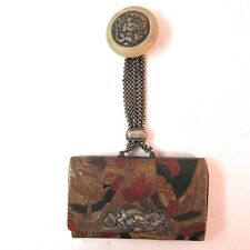 Antique Japanese Tobacco Pouch Dragons with Netsuke