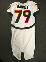 CHRIS BARNEY MIAMI HURRICANES GAME USED JERSEY ?