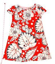 Designer Boutique Style Little Girls Size 7 Red Ladybug & Floral Print Dress New
