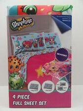 Shopkins Full Size Bed Sheet Set Kids Girls Bedroom Bedding Super Soft