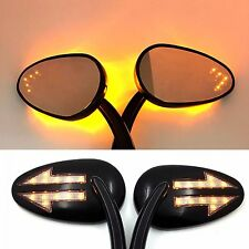 Integrated Arrow LED Signal Mirror For Harley Street Glide/ Tri Glide Ultra Blac