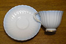 Royal Stafford Bone China England Cup & Saucer - Ribbed Blue Fade To White