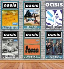 More details for oasis singles and album posters modern look various sizes available