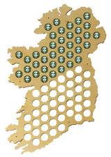 Beer Cap Traps Map of Ireland Bottle Beer Soda Pop Wood Cap Caps Organizer
