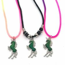 NEW Unicorn Mood on Cord Necklace Color Change Pendant Liquid Crystal Thermo