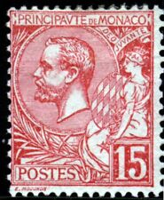 MONACO 1891 Prince Albert 15c. Dull Rose SG 15a MINT