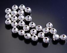 Sterling Silver Beads 7mm Plain Silver Beads -- pack of 10 beads -- DB3E