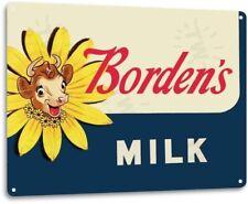 Borden's Milk General Store Bar Kitchen Retro Wall Art Decor Metal Tin Sign