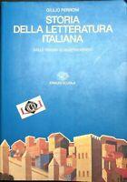 STORIA DELLA LETTERATURA ITALIANA Giulio Ferroni Einaudi Scuola 1996