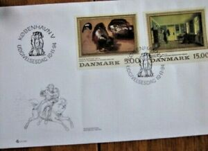 DENMARK ART PAINTINGS  MARSTRAND & BENDZ 1994 #1018-9 FDC CAT $8.50 AS USED ST