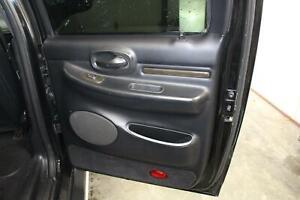 2002 03 LINCOLN BLACKWOOD Right Rear RR (INNER) Black Trim Card Door Panel