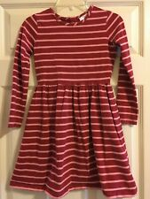 Hanna Andersson Striped Dress Girls Size 120 6-7