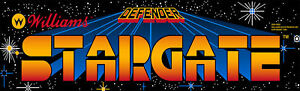 Defender Stargate Arcade Marquee For Reproduction Header/Backlit Sign