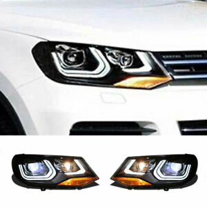 For Volkswagen Touareg LED Headlights Projector LED DRL Replace OEM Halogen11-14