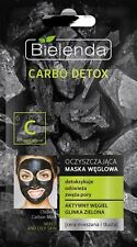 Bielenda CARBO DETOX Cleansing Carbon Mask for Mixed and Oily Skin 0.3 oz / 8g