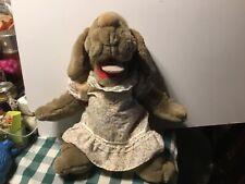 Ganzbros 1981 Wrinkles the hand puppet grey plush in original dress
