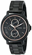 Fossil Women's ES3451 Chelsey Black Dial Black Stainless Steel Bracelet Watch