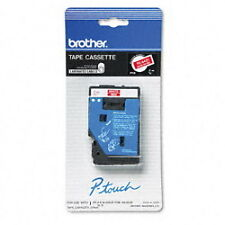 "Brother 3/8"" (9mm) White on Red P-touch Tape for PT20, PT-20 Label Maker"
