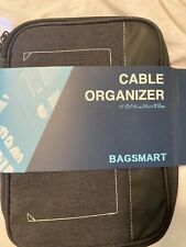 Travel cable organizer bag