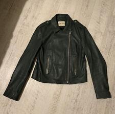 Reiss Ladies Leather Biker Jacket - Size 10