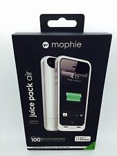 OEM Mophie iPhone 5/5S Juice Pack Air 100% Extra1700 mAh Battery White Case