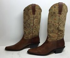 VTG WOMENS MATISSE COWBOY LEATHER BROWN BOOTS SIZE 6 M