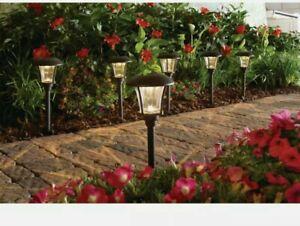 Hampton Bay Bronze Solar Outdoor LED Landscape Path Light 10 Lumens (6-Pack)