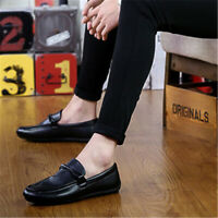 Men's Casual Leather Shoes Driving Lazy Loafers Peas Moccasins Slip on Flats #