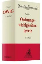 Gesetz über Ordnungswidrigkeiten von Helmut Seitz, Franz Gürtler und Erich Göhler (2017, Gebundene Ausgabe)