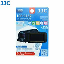 """JJC LCP-CA35 Film Screen Display Protector for CANON 3.5"""" LCD Camcorders x2"""