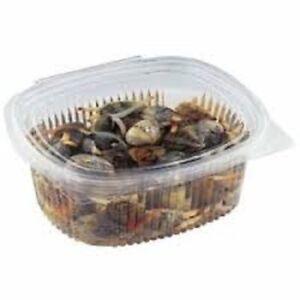50 Vaschette per Alimenti 500cc Ovali Trasparenti PET Plastica - Insalata