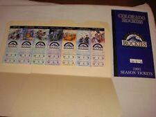 Colorado Rockies 1993 Opening Homestand SEASON TICKET STRIP Ultra Rare Untorn!!!