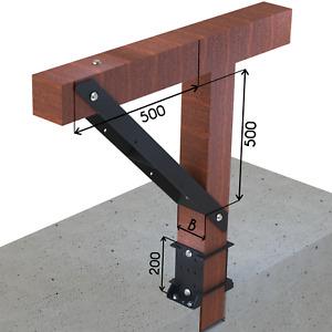 4 mm schwerlast Balkenträger Stütze für Holz Balkenschuhe Balkenverbinder